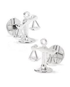 Moving Parts Scales of Justice Cufflinks