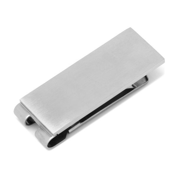 Stainless Steel Brushed and Textured Money Clip